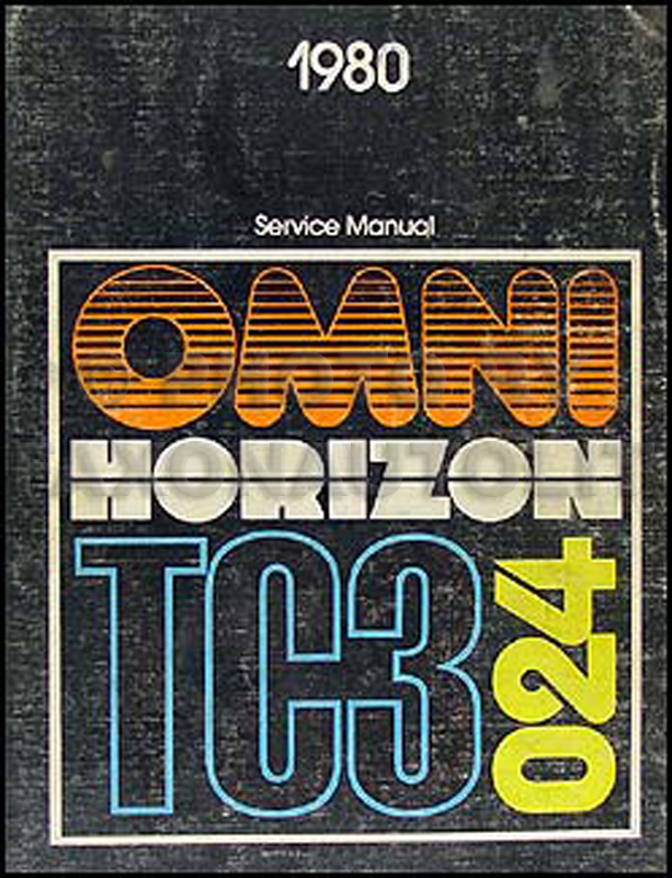 1980 Omni, Horizon, TC3 Repair Manual Original