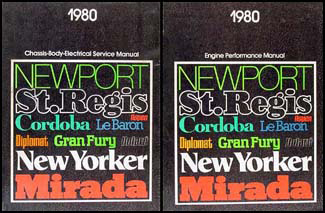 1980 MoPar RWD Car Repair Manual2 Vol Set