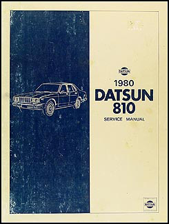 1980 Datsun 810 Repair Manual Original