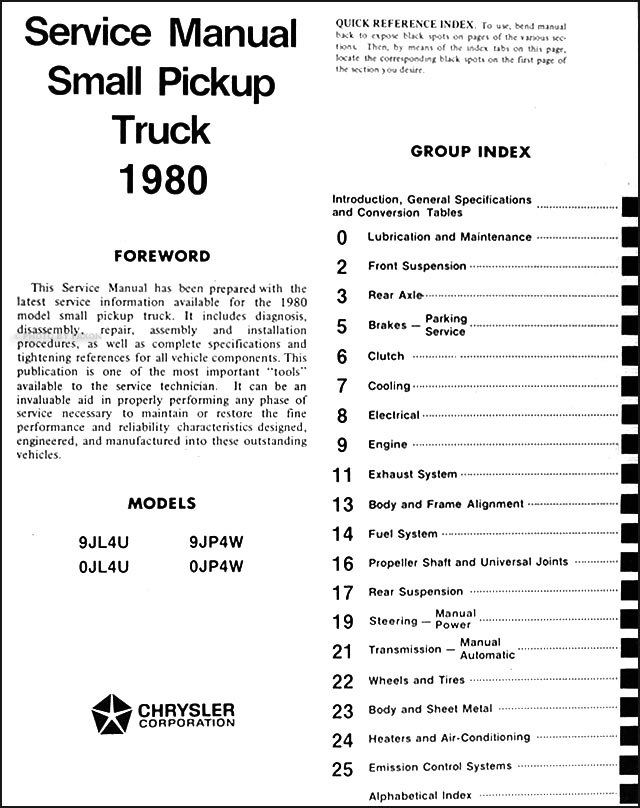 1980 dodge ram 50 \u0026 plymouth arrow truck repair shop manual original  1977 1982 dodge plymouth d 50 champ