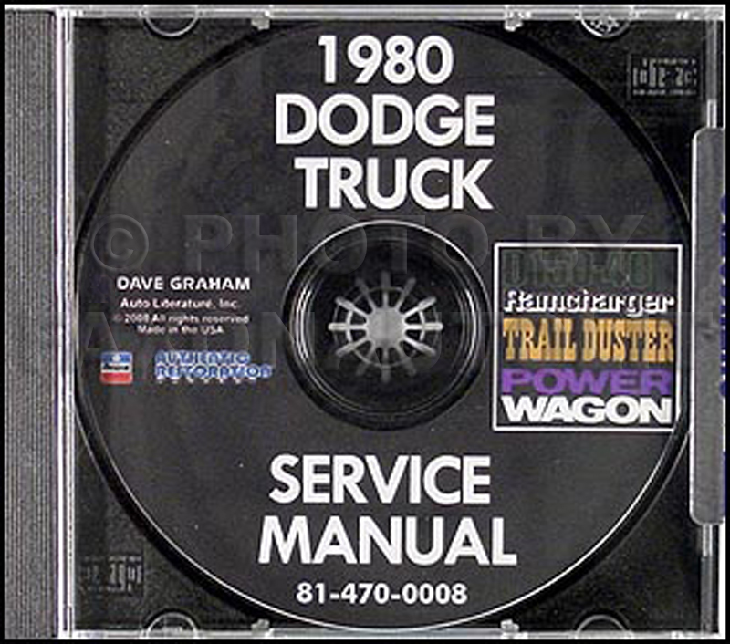 1980 CD Dodge 150-400 Pickup Truck Ramcharger Trail Duster Repair Shop Manual