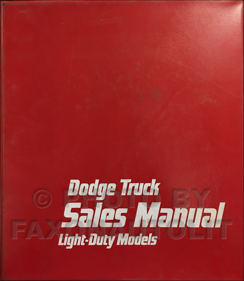 1980 Dodge Truck Data Book and Color & Upholstery Album Original