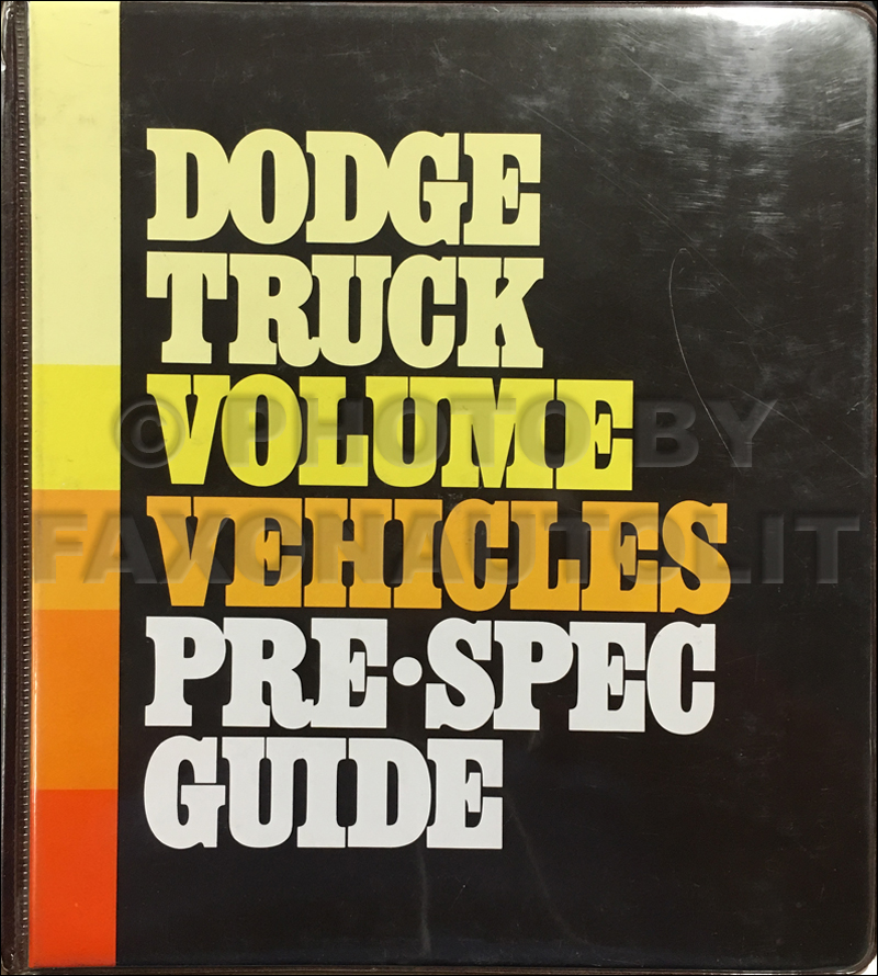 1980 Dodge Truck Ordering Guide Original