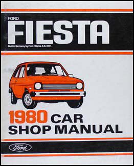 1980 Ford Fiesta Repair Manual Original