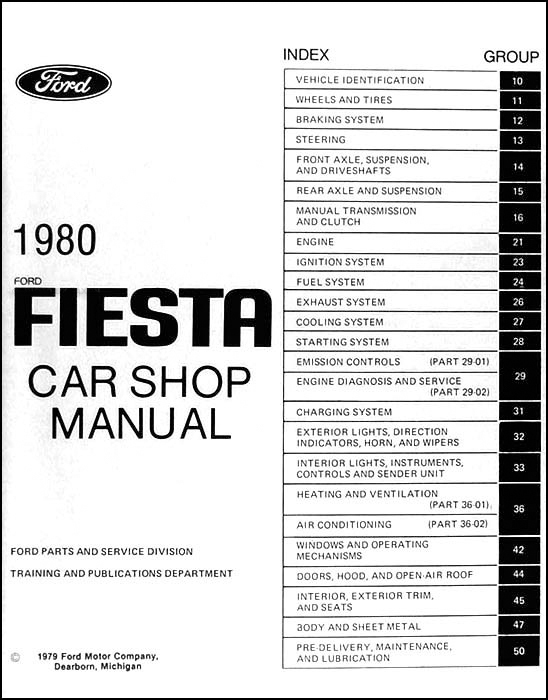 1980 ford fiesta repair shop manual original rh faxonautoliterature com 2011 ford fiesta wiring diagram manual original 2011 ford fiesta wiring diagram abs