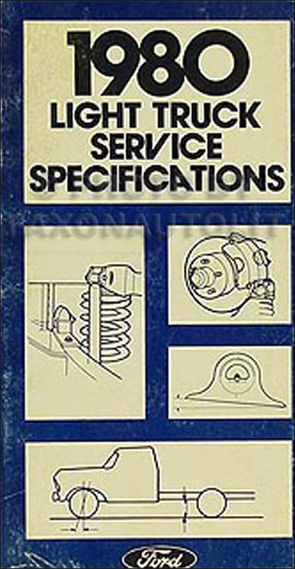 1980 Ford Pickup and Van Service Specifications Book Original