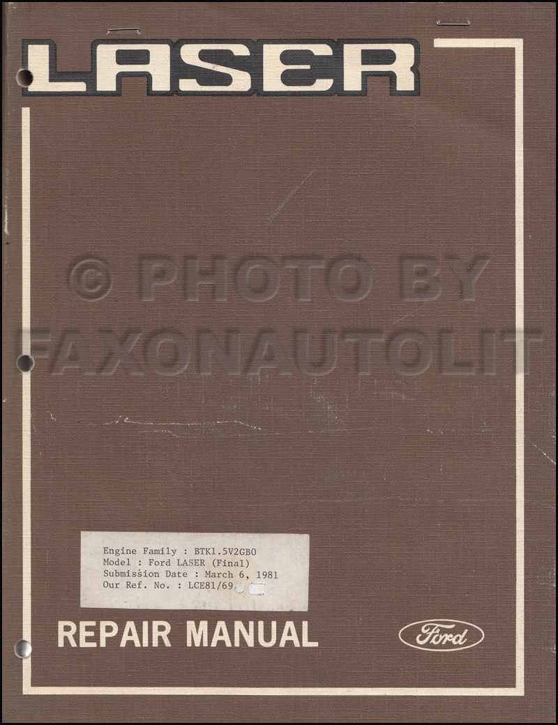 1980 Ford Laser Repair Shop Manual Original