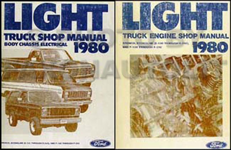 1980 Ford Truck Repair Shop Manual Econoline Van F100-F150-F350 Bronco Set