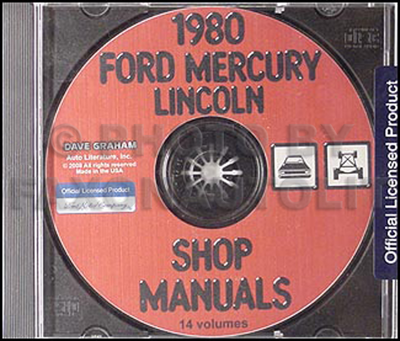 1980 Ford Lincoln Mercury Car Repair Manual CD