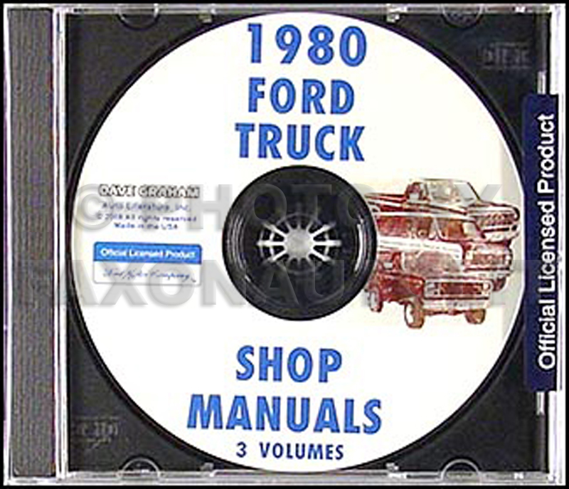 1980 Ford Truck and Van Repair Manual CD