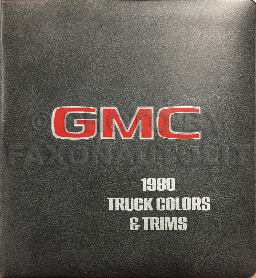 1980 GMC Color & Upholstery Dealer Album Original
