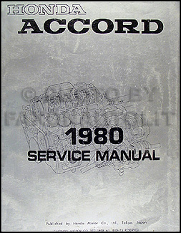 1980 Honda Accord Repair Manual Original