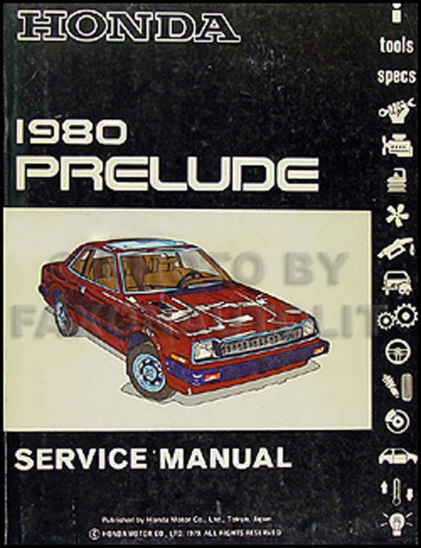 1980 Honda Prelude Repair Manual Original