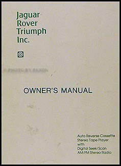 1980 Radio Owner's Manual Original Jaguar Rover Triumph