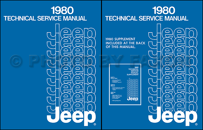1980 Jeep Shop Manual Reprint- All models