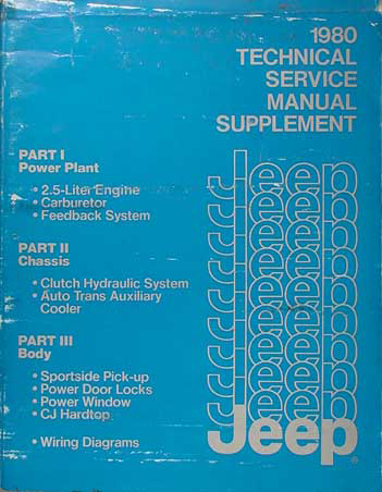 1983 Jeep Shop Manual Supplement Original