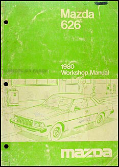 1980 Mazda 626 Repair Manual Original
