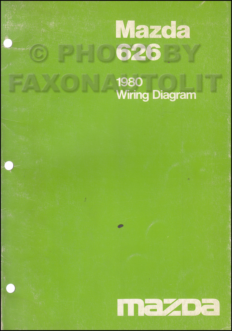 1980 Mazda 626 Wiring Diagram Manual Original