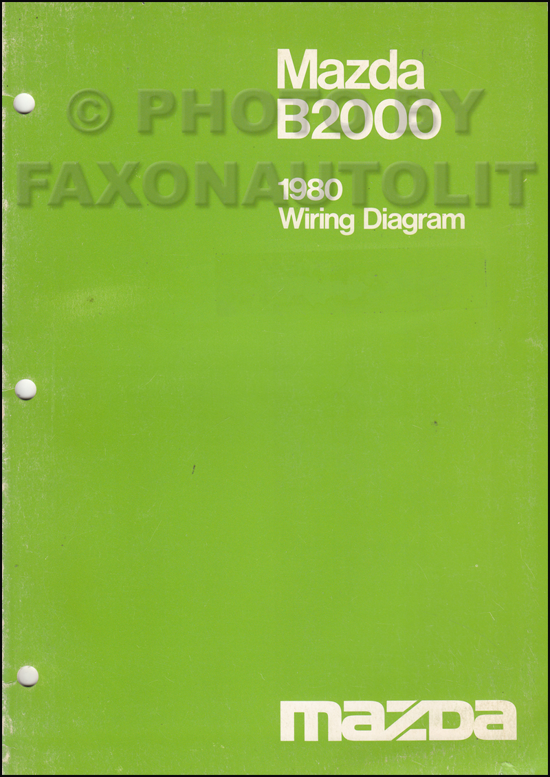 1980 Mazda B2000 Pickup Truck Wiring Diagram Manual Original