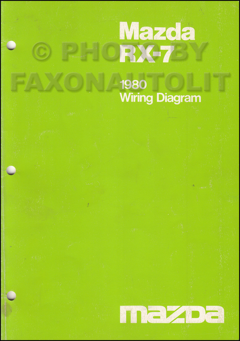 1980 Mazda RX-7 Wiring Diagram Manual Original