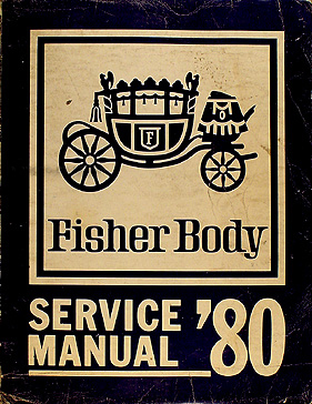 1980 Chevy Body Repair Shop Manual Original