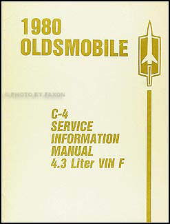 1980 Oldsmobile Cutlass 4.3L V8 Engine Diagnosis Manual Original