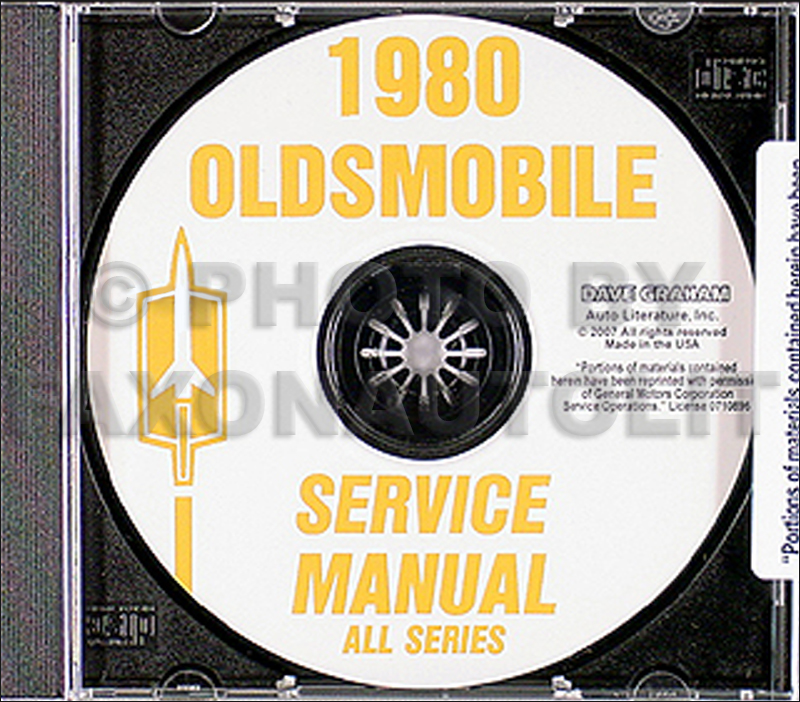 1980 Oldsmobile CD-ROM Shop Manual