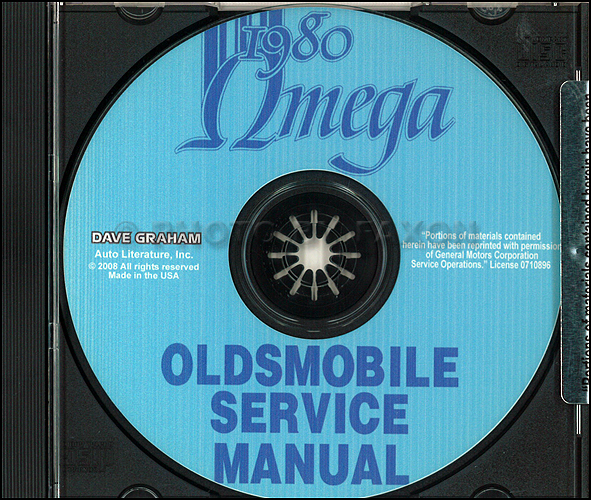 1980 Oldsmobile Omega CD-ROM Repair Shop Manual