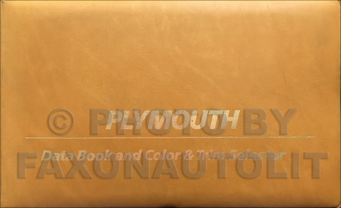 1980 Plymouth Color & Upholstery Album and Data Book Original