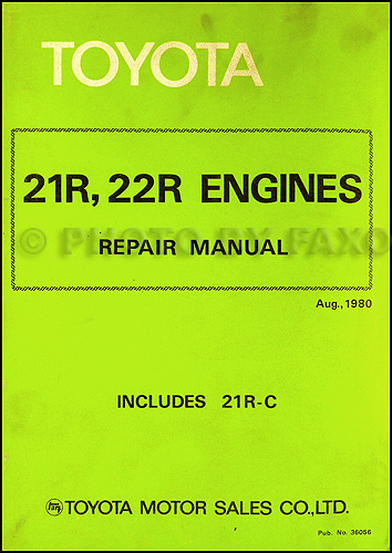 1981 Toyota Pickup Engine Repair Manual Original No. 36056