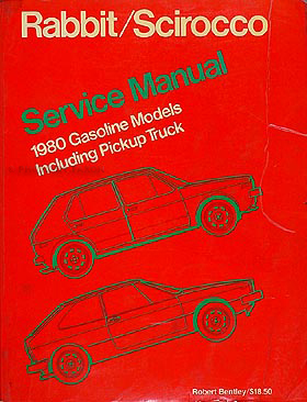 1980 VW Shop Manual Original Rabbit, Scirocco, & Pickup Truck 81