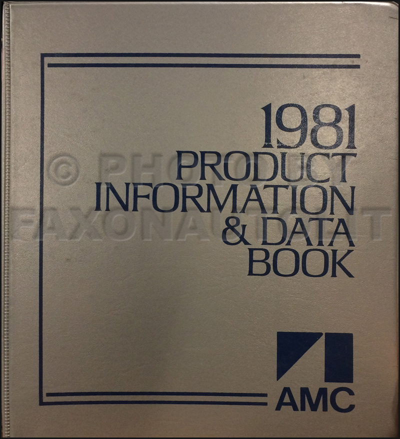 1981 AMC Color & Upholstery Album and Data Book Original