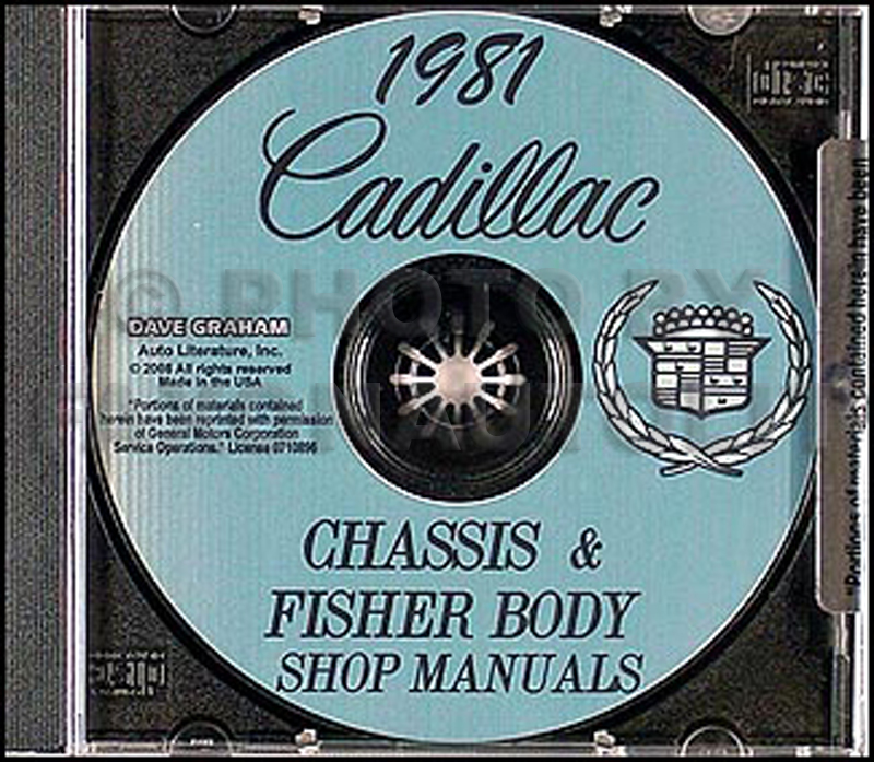 1981 Cadillac Shop Manual and Body Manual on CD-ROM