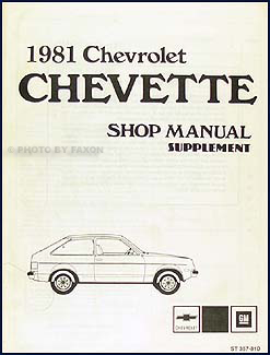1981 Chevette Diesel Engine Repair Manual Original Supplement