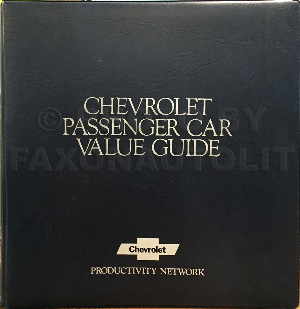 1981 Chevrolet Car Color & Upholstery Dealer Album/Data Book Original
