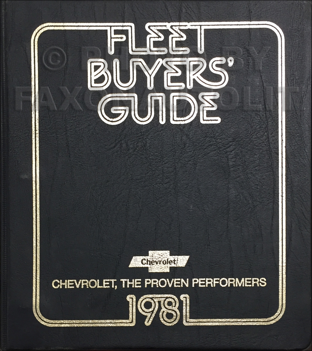 1981 Chevrolet Fleet Buyer's Guide Dealer Album Original
