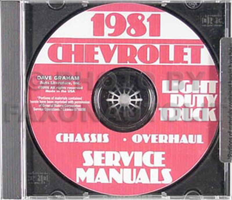 1981 Chevrolet Truck Repair Shop Manual Set CD Pickup Van Blazer Suburban