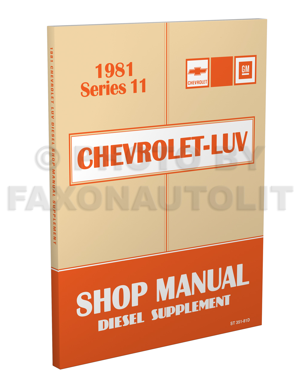 1981 Chevy Luv Diesel Engine Repair Manual Original