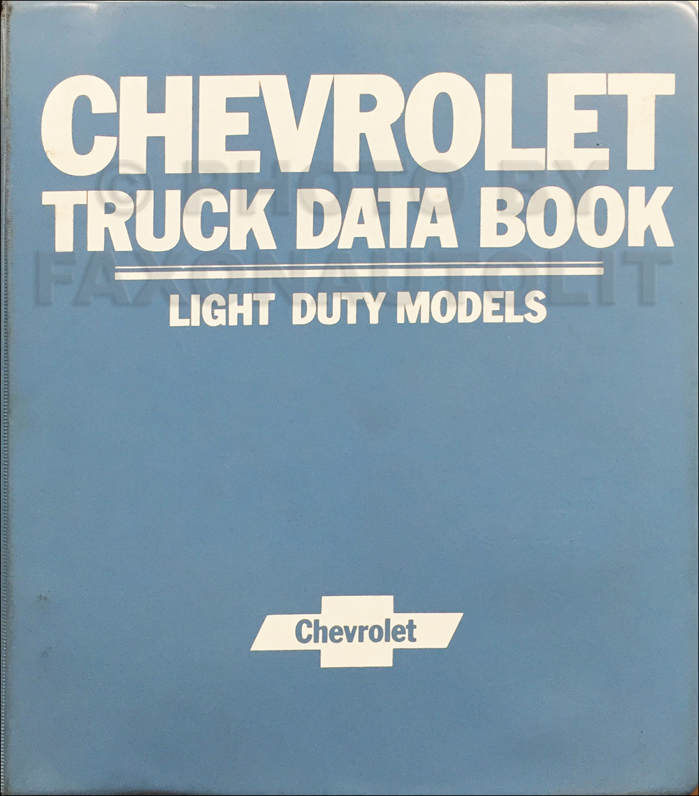 1981 Chevrolet Light Truck Data Book and Color and Upholstery Dealer Album Original