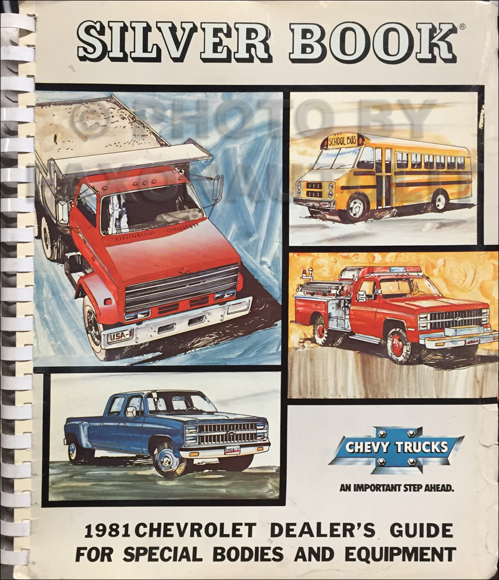 1981 Chevrolet Truck Silver Book Special Equipment Dealer Album