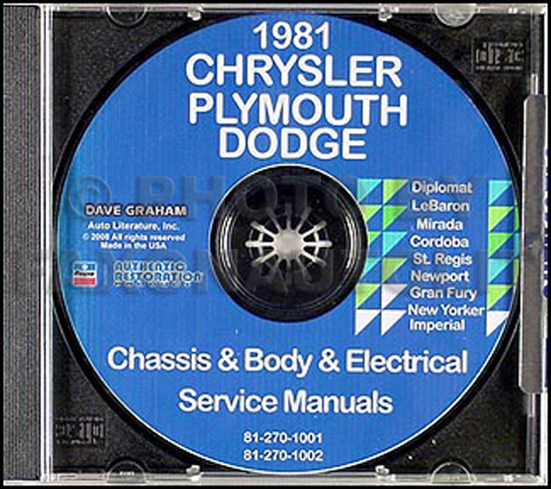 1981 Chrysler, Plymouth and Dodge CD-ROM Shop Manual