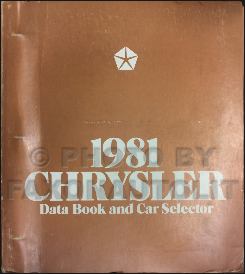 1981 Chrysler Data Book Original