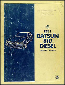 1981 Datsun Diesel 810 Repair Manual Supplement Original