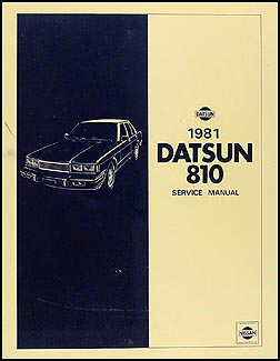 1981 Datsun 810 Repair Manual Original