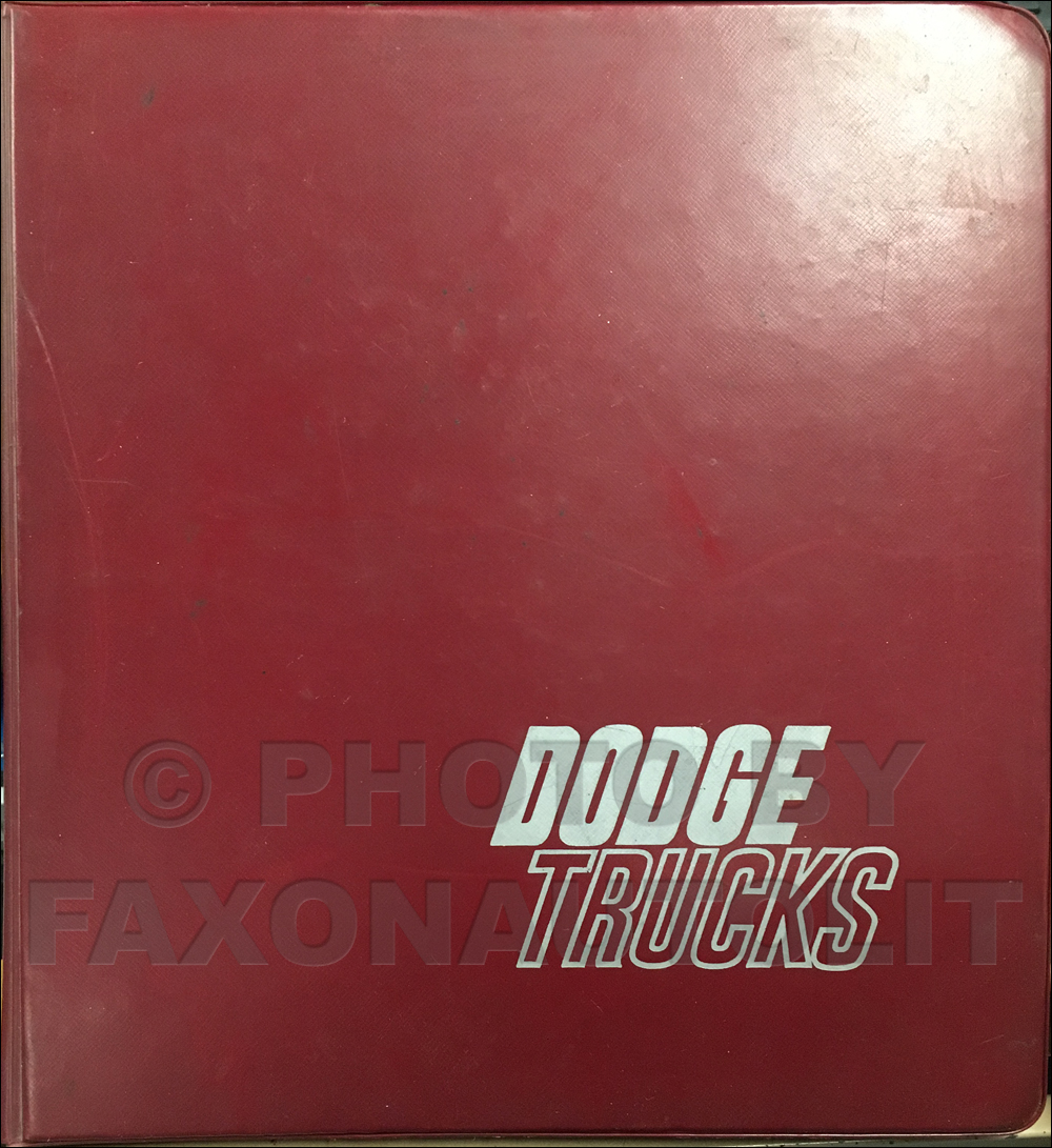 1981 Dodge Truck Data Book and Color & Upholstery Album Original