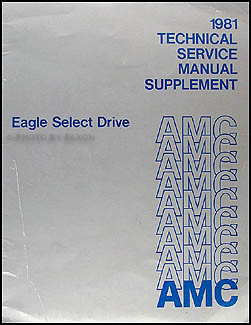 1981 Eagle Select Drive Shop Manual Original Supplement