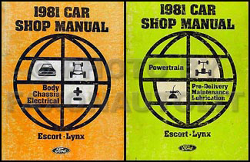 1981 Ford Escort & Mercury Lynx Repair Manual 2 Volume Set Original