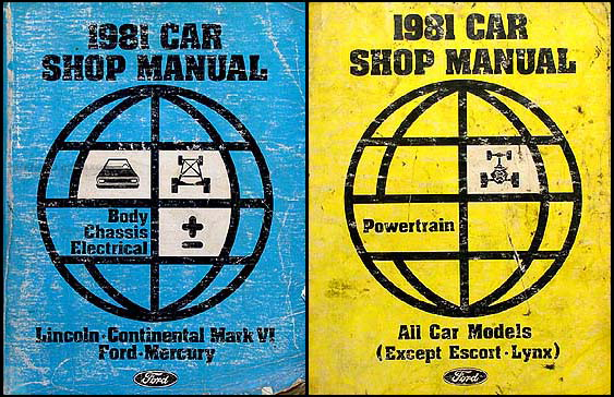 1981 Continental Mark VI, Town Car, LTD, Crown Victoria, Marquis, Grand Marquis Repair Shop Manual