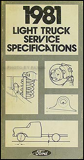 1981 Ford Pickup and Van Service Specifications Book Original