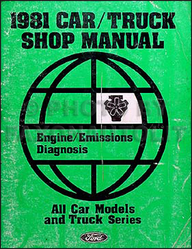 1981 Engine & Emissions Diagnosis Manual Original--All Cars & Trucks